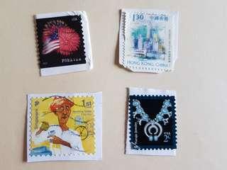 Singapore USA Stamps