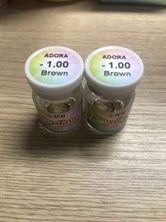Softlens murah adora brown -1.00