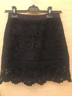 90% new ted baker Black Lace Skirt size 0