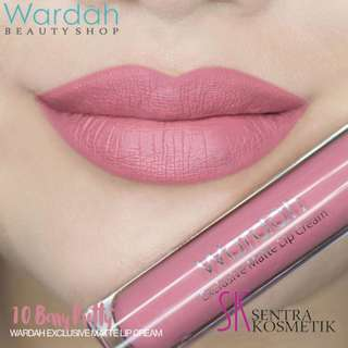Wardah Exclusive Lip Cream Matte Lipcream 10 Berry Pretty