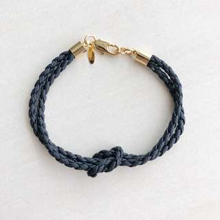 US Import Navy Gold Plated Friendship Bracelet