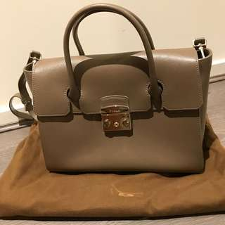 Furla taupe handbag
