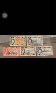 Queen Elizabeth stamps Bahamas 5v used