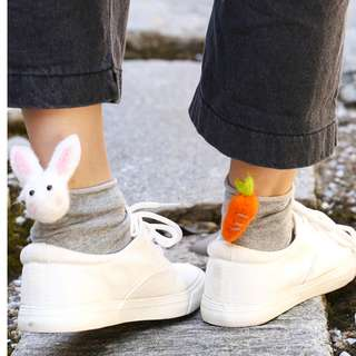 Cute Socks with Pop-up Rabbit & Carrot
