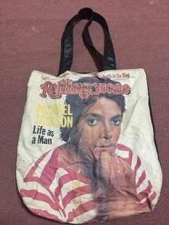 Rolling Stones Michael Jackson bag