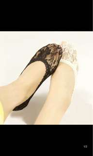 Lace隠形襪 平底鞋專用