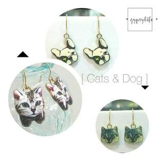 • 🐱 Cats & Dogs 🐶 • Handmade Earrings •