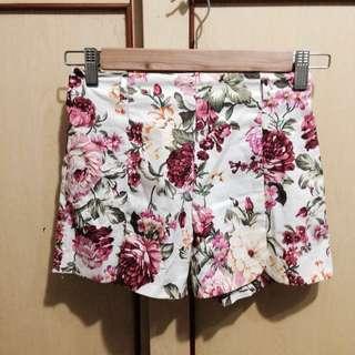 春夏鬆緊復古花朵短褲#女裝半價