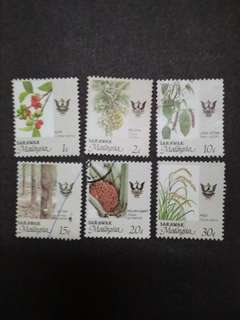 Malaysia 1986 Sarawak Agro-Based Products Loose Set - 6v Mix MH & Used Stamps