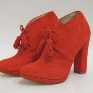 Cole Haan x Jen Oli Red Suede Chelsea Ankle Boot