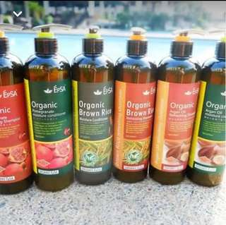 Epsa brown rice Organic with Argan oil (Shampoo and Conditioner)