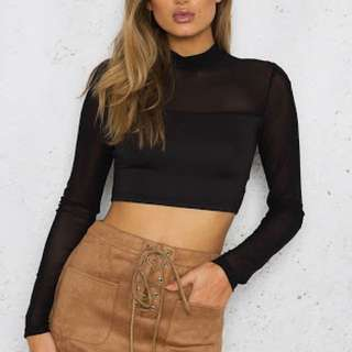 Mesh cropped top
