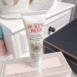 Burts bees deep cleansing cream • soap bark & chamomile 20g