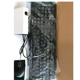 Logitech USB wired Keyboard and Mouse