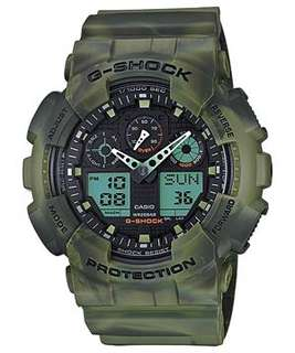 Casio G-Shock Watch GA-100MM-3A