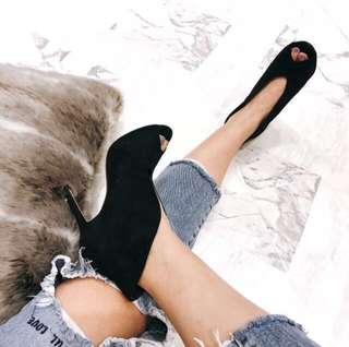 歐美V型魚口高跟鞋