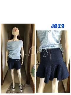 J829全新超彈力活潑甜美牛仔圓裙減齡必備阿妹啊款 denim skirt J-Lounge