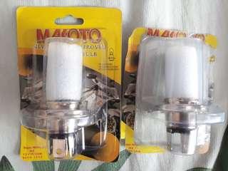 H4 Makoto LED White Bulb