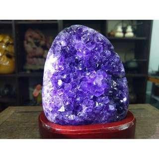 紫晶片招財 水晶洞 聚財盆 開智慧 辦公室居家最佳擺設