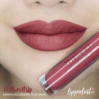 Wardah Exclusive Lip Cream Matte Lipcream 12 Plum It Up