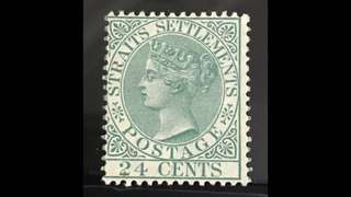 Straits Queen Victoria stamp 1884 issue 1v MNH Fine