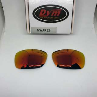 Hijinx Fire Red POLARIZED Dym Replacement Lenses for Oakley Hijinx Sunglasses
