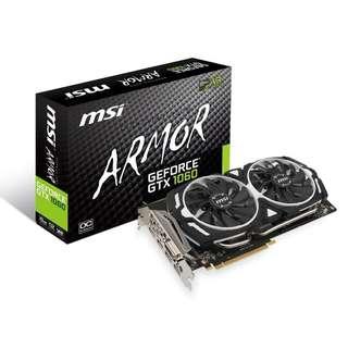 MSI GeForce GTX 1060 ARMOR 6GB GDDR5