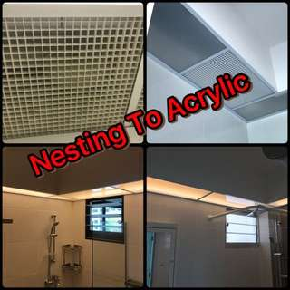 Acrylic panel BTO bathroom toilet & other services