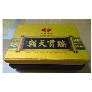 茶博士家 Dr.Tea 朝天貢瑞宮廷普洱茶磚 盒裝250克 2塊