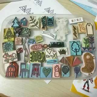 Preloved rubber stamps