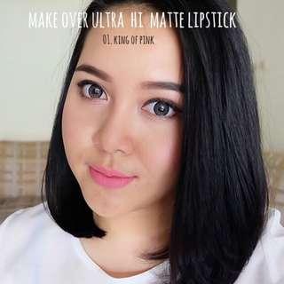 Make Over Ultra Hi Matte Lipstick Netto 2.5gr 001 King Of Pink