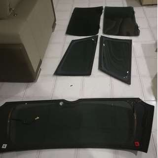 Toyota Wish Original Import Tinted Screen (Left Right Screen and Black Screen)