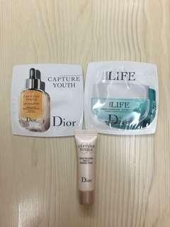 Dior capture youth, hydra life sample