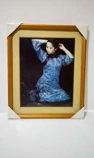 Lukisan perempuan berdandan