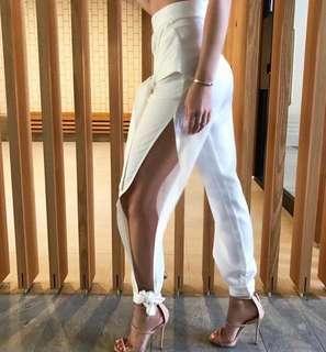 Prem the label confidence white split pants
