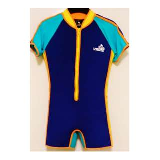 Liferacer - Thermal Kids Swimsuit – Navy Blue / Yellow
