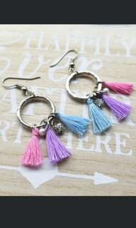 ($9) Addons: Cotton candy tassle earring