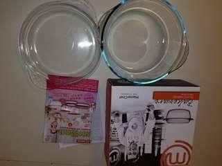 Bakeware 2.2公升耐熱玻璃烤箱器皿圓形鍋