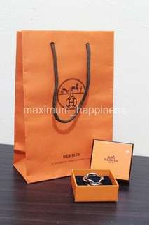AUTHENTIC HERMES REGATE CHAINE D'ANCRE PALLADIUM FINISH SCARF RING / PENDANT