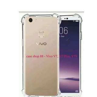 Anti Crack Case / Jelly Case Warna Bening Vivo V7 / V7 Plus / Y79