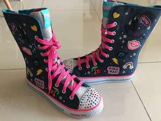 Twinkle Toes High Boots Sketchers Light Up Hip Hop Sports Shoes Sneakers
