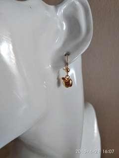 24k gold plated apple earrings. Vermeil earrings. For her. Gift ideas. Handmade earrings.