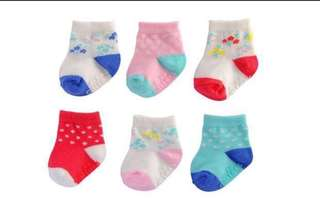 *0-3M* BN Carter's 6 Pack Socks for baby girl