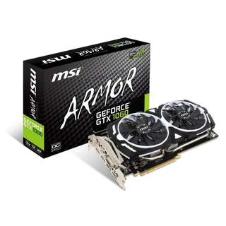 MSI GeForce GTX 1060 ARMOR 3GB GDDR5