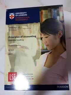 UOL Principles of Accounting Essential Reading