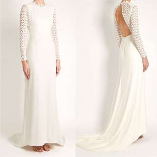 99% NEW SELF PORTRAIT EVA BACKLESS SILK WEDDING GOWN IN IVORY ORIGINAL RETAIL PRICED HKD$7200