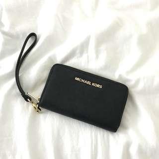Michael Kors MK Black Wrislet Wallet