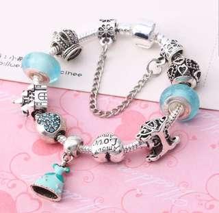 P2mart✌✔Pre order stock ✔Luminous Crystal&Glass Beads Women Brand Bracelet Fit