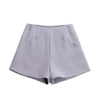High Waist Casual Suit Shorts Black White Women Short Pants Ladies Shorts