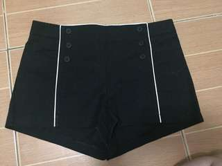 Nafnaf black shorts